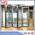 Aluminum partition casement door with grill glass design