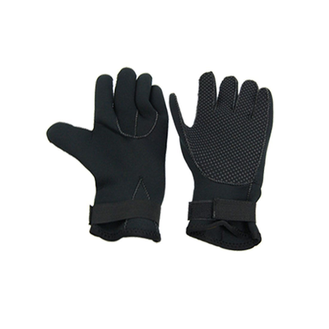 1 Pair Black Nonslip 3mm Neoprene Diving Diver Swimming Gloves Size M
