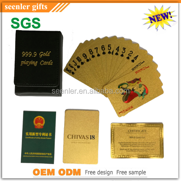 2016 New design PET material fancy playing cards with company logo