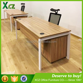 Commercial Wooden Luxury Small Executive Office Desk With Movable  Cabinet/luxury Wooden Office Desk