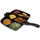 geovein 5 in 1 multi section frying pan master pan divided grill pan