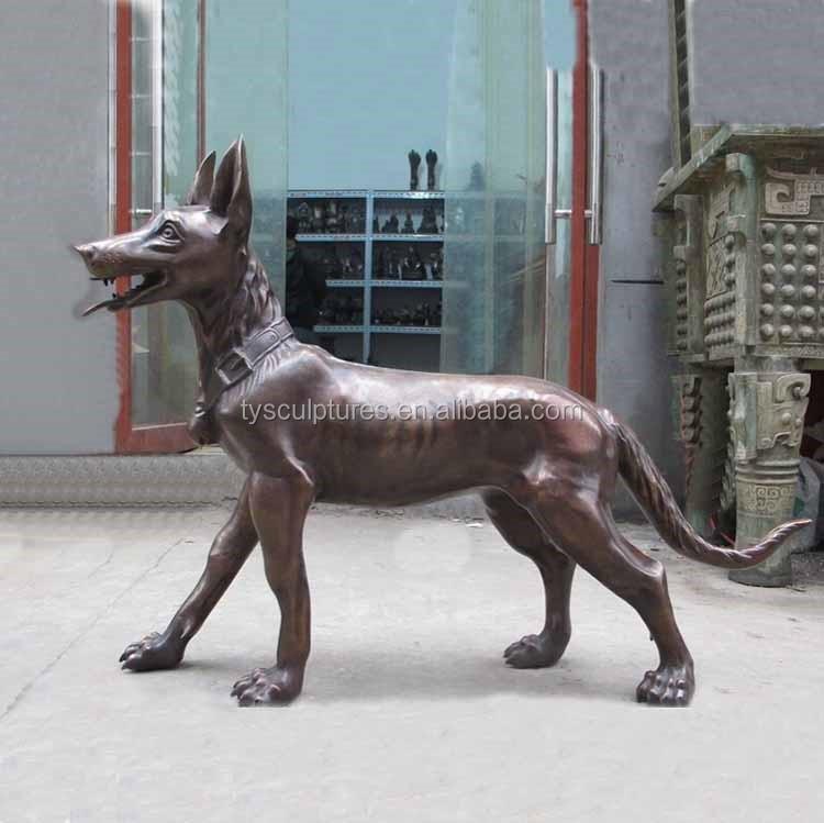 Cheap Can Customize Decor Home Metal Craft Bronze Hunting Dog