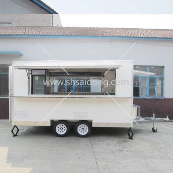 Disesuaikan Truk Makanan Untuk Dijual Kebab Van Kemping Kios Es Krim Vendor