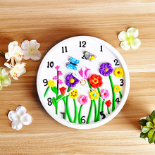 Best gift creative plaster craft DIY painting toys clock kit