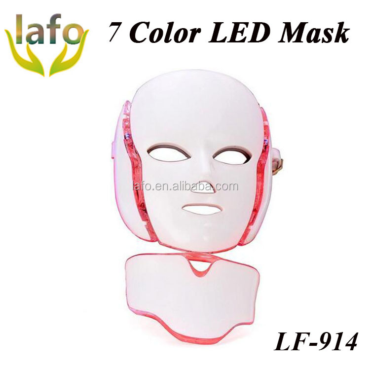 2018 beste led gesichtsmaske/7 farbe led pdt bio-licht-therapie/pdt led lichttherapie maschine