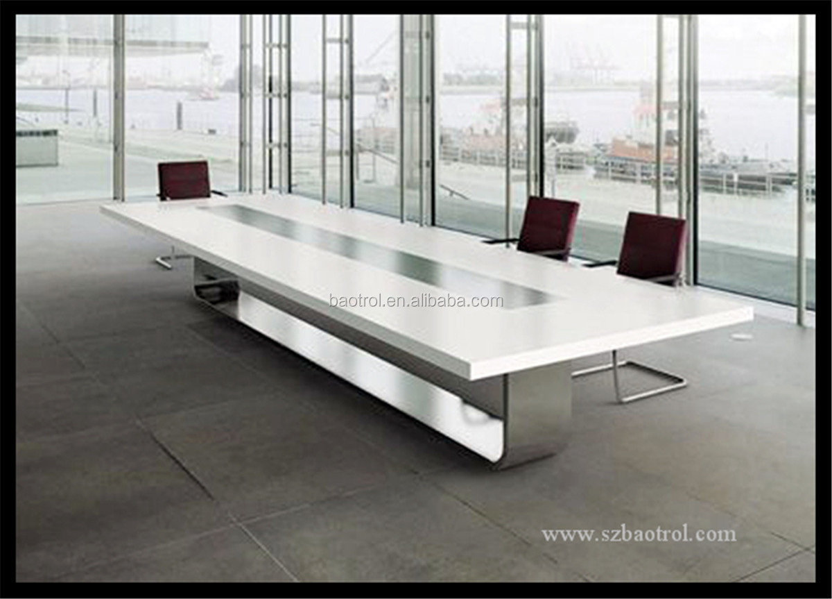 Modern Office Acrylic Solid Surface Conference Table