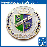 Promotional new metal badge/justice prosperity and faith