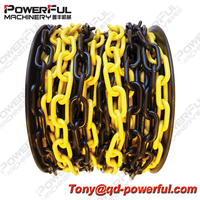 Traffic Used Red & White Color Decorative Durable Plastic Link Chain