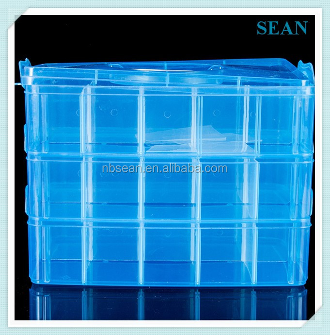 5 Grids Clear Fancy Plastic Dividers Box 5 Slots Beads Kids Art DIY storage boxes