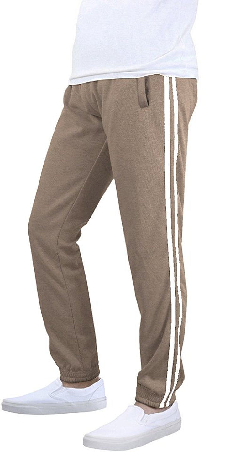 ef8611537cb6 ... Casual Striped Jogger Pants Sweatpants. 14.99. null. Get Quotations ·  Athletic Men's Dri-Power Open Bottom Sweatpants with Pockets Khaki