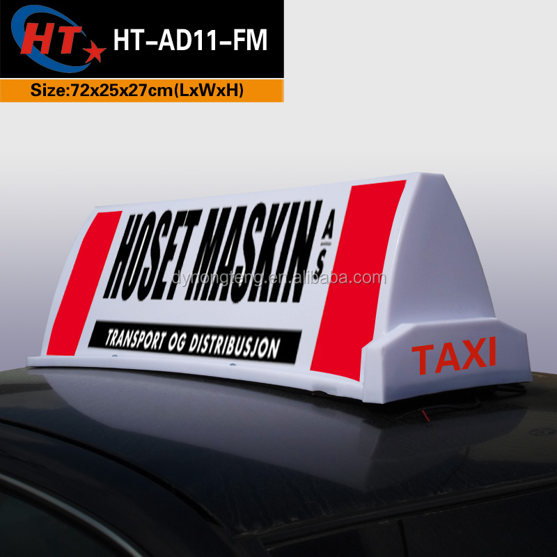 custom size taxi top neon sign light with CE