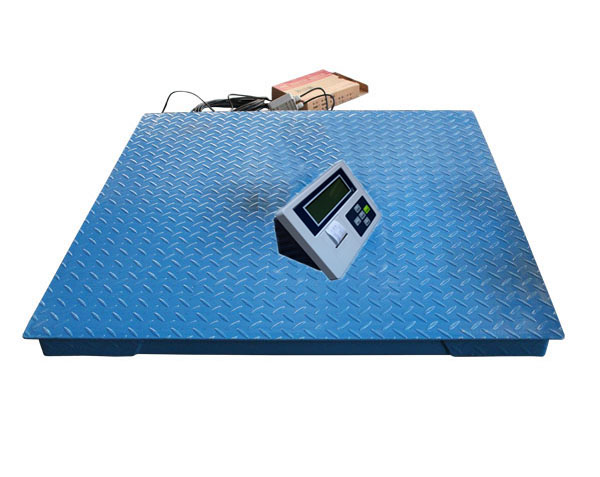 5T digital weighing floor scale for industrial with printing indicator