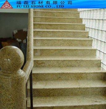 Yellow Granite Stairs Bullnose Edge