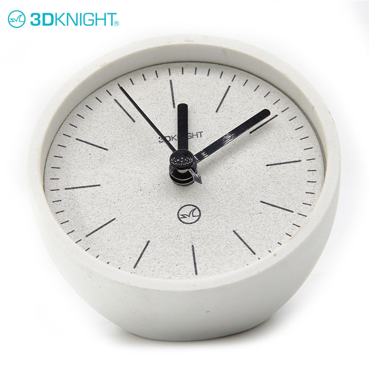 Fancy Cool Cement Table Clocks For bedroom