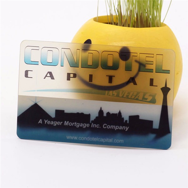 Customize Clear plastic printing cards with magnetic strip