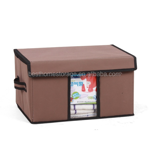 Manufacturing Polyester cardboard Storage Boxes with Lift-off Lid, duvet box