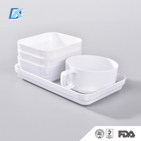 Wholesale Bulk Airline Best Selling Cheap Custom Printed Plastic Tea Cups And Saucers