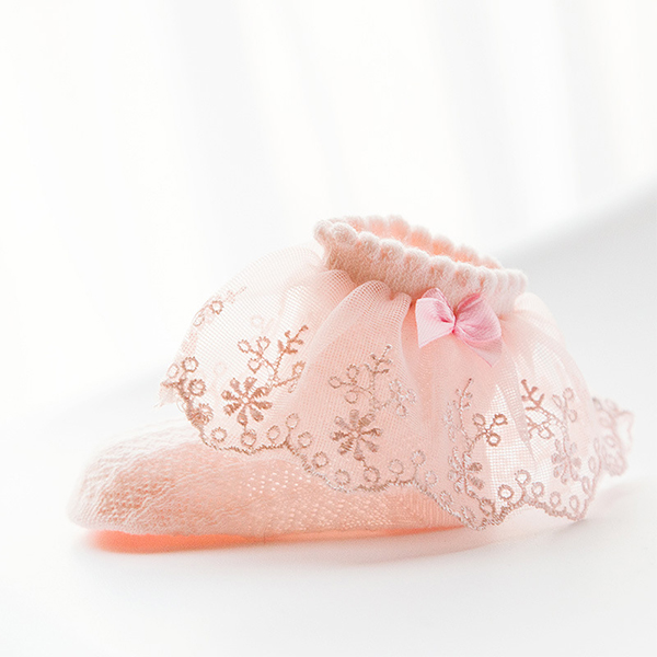 High quality comfortable 100% cotton cute lace baby socks