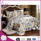 Top quality wholesale 4 pcs printed chinese silk bedding