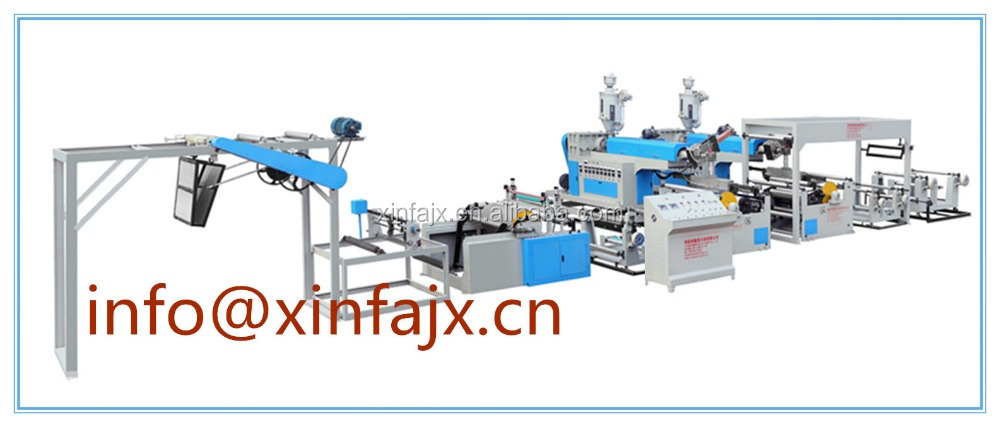 XFD 1000 Exported to the USA PP PE coating double head plastic extrusion laminating machine for largest leno mesh bags