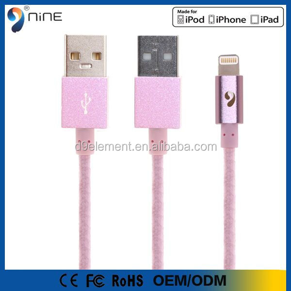 low price china mobile phone MFi authorized license for Apple usb cable,for iphone 6 mfi