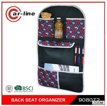 Universal Car Seat Back Storage Bag 600D Polyester Auto Organizer