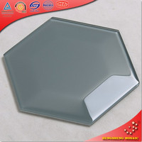 HSL03 New Design Colored Hexagon Glass Tile Mosaic Design