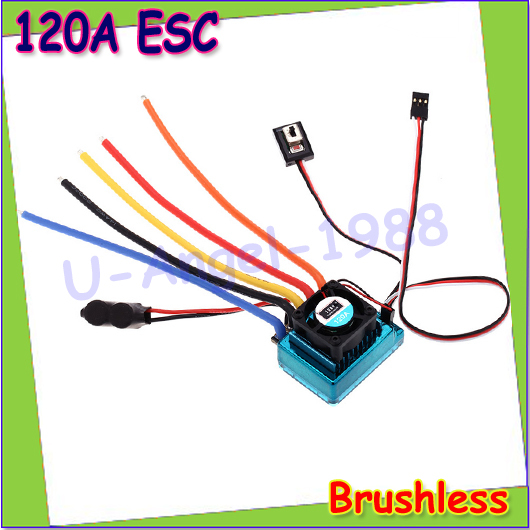 Wholesale 1pcs New 120A Sensored Brushless ESC Speed Controller for 1/8 1/10 1/12 RC Car Crawler Drop free shipping