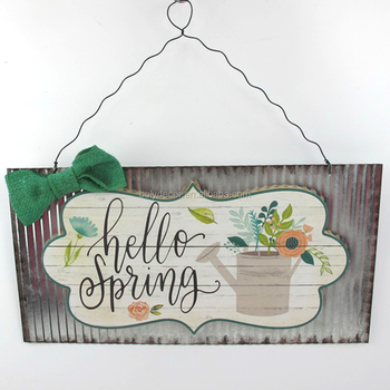 Factory Price Yard Decorative Small Metal Wall Plaques With Sayings ...