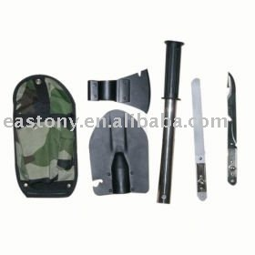 4 in 1 Multifunction Army Shovel / Knife / Saw / Axe