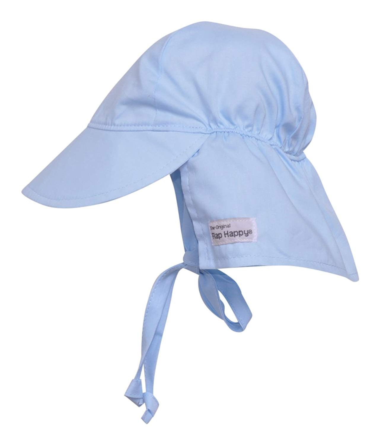 Flap Happy Baby Boys' UPF 50+ Original Flap Hat with Ties