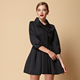 MS60344W autumn winter black coat dress coat latest women arabic fashion