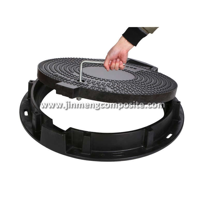 EN124 D400 FRP Plastic Fiber Glass Drainage Manhole Cover with frame