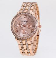 Fashinal Geneva Rhinestone quartz lady watch stainless steel watch women GW27