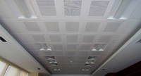 Fireproof ,Moisture proof ,PVC Film/Aluminum Foil Gypsum Ceiling Board/Tile