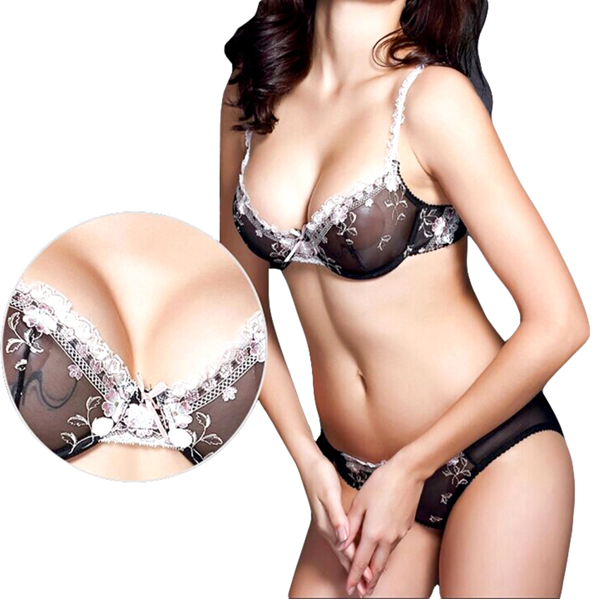 0c019fb00843f French women bra set models sexy transparent lace lingerie bra panty set bra  brief sets plus size underwear free shipping