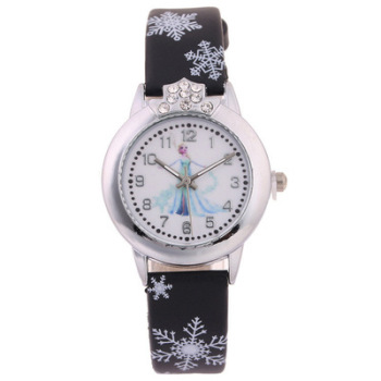 frozen product leather watch white fashion watches children brand dropshipping disney variants top watchband cartoon quartz girls pu