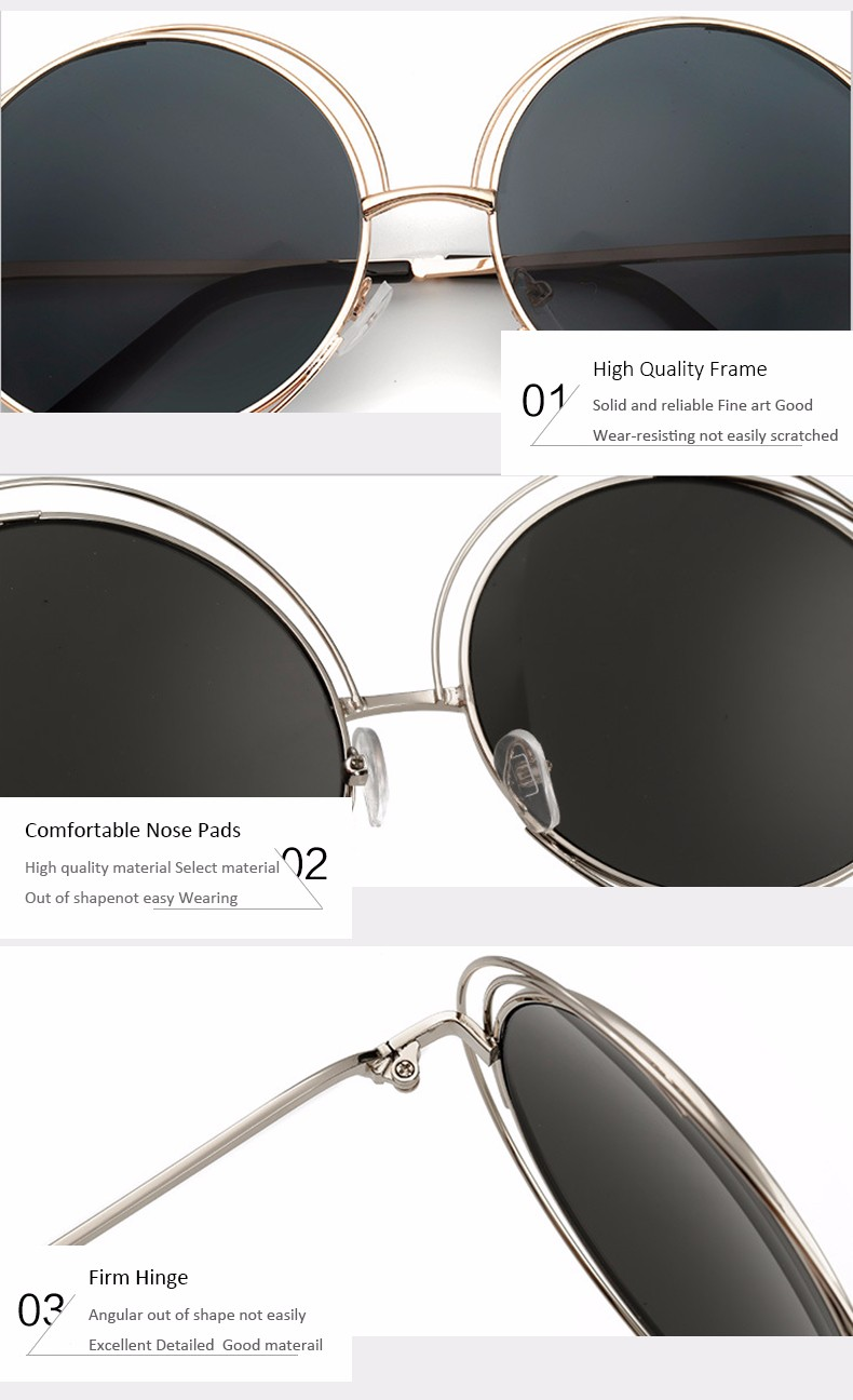 888c529dbe8 Detail Feedback Questions about Aimade Oversized Round Sunglasses ...