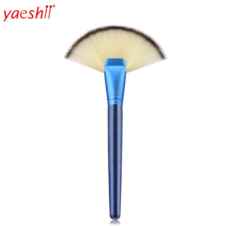 Yaeshii Private Label  maquillaje make up Professional Big Fan Powder Single Glitter Makeup Brush