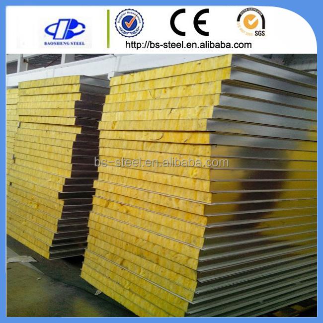 Structure En Acier Isolation Matériau De Panneau Et PU / PUR / PIR Panneaux  Sandwich Type