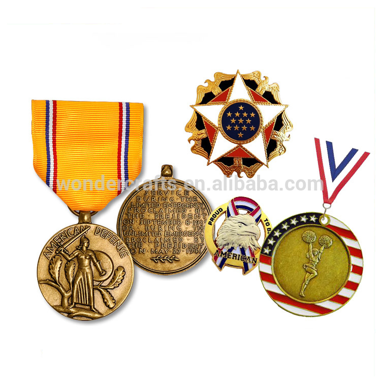 metal gifts supplier wholesale misty ww1 ww2 pressure cast grid edged aluminum alloy cupronickel plated german medal with ribbon