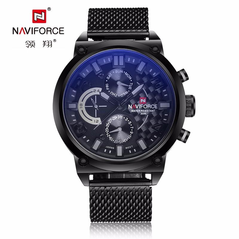 NAVIFORCE Watches Men 9068 Luxury Brand Fashion Casual Quartz Wrist watches Leather Waterproof Sports Watch Man Clock фото