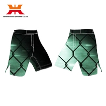 Hot Sell Green Plaid Fighting Sport MMA Shorts Man