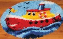 Набор крючков с защелкой, вязаный ковер «мультяшный автомобиль», игла для вязания крючком для вышивания ковров Foamiran для рукоделия, подарки ...(Китай)