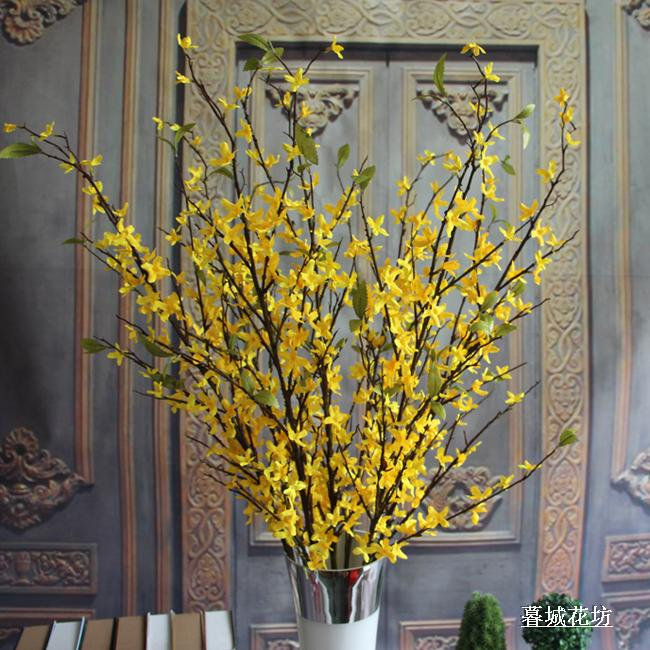 Large floor winter jasmine oncidium orchid home decoration silk flower French flowers simulate large branches nice decorations