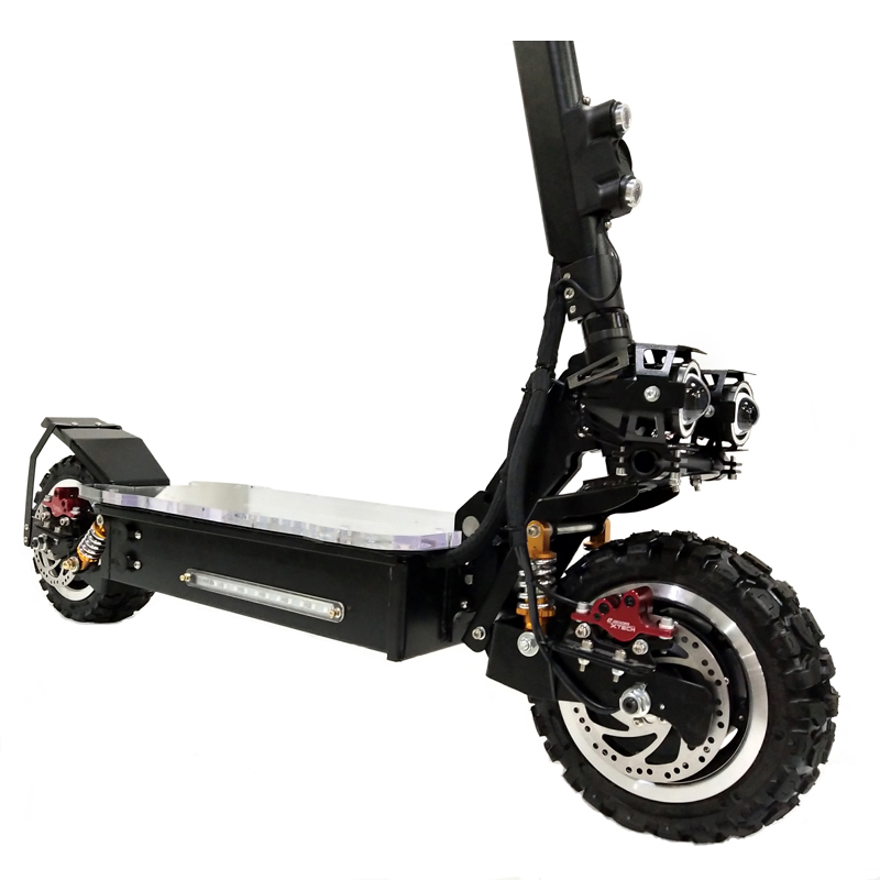 2018 Newest Design China High Quality Adults 60v 3200W 2000W dual motors electric scooter with seat with sparkle for sale, Black