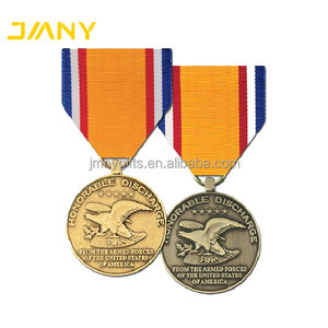 China Manufacturer Gold Metal Plated Military Commemorative Medal