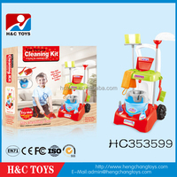 My happy family house toy plastic kids cleaning set toy HC353599