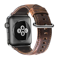 Occident wristband genuine cowhide leather smart watch band for apple watch