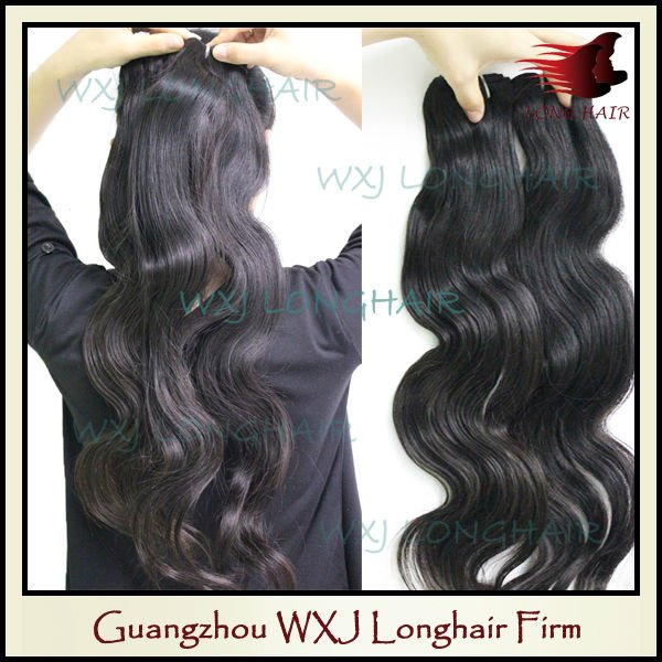 Fashion style natural color factory price 16 inch brazilian hair extension